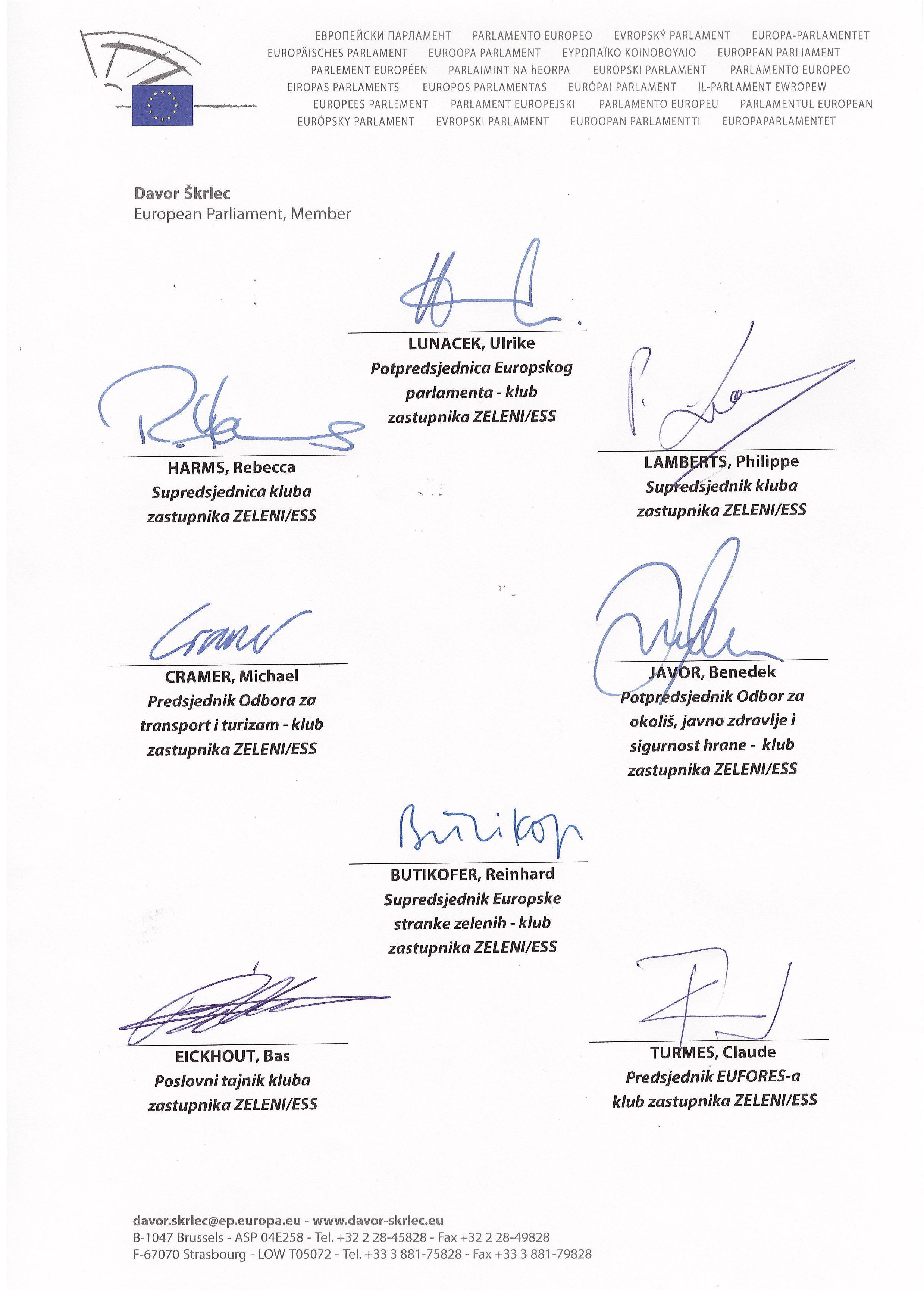 Otvoreno pismo Zelenih zastupnika u Europskom parlamentu Predsjedniku Josipoviću-2