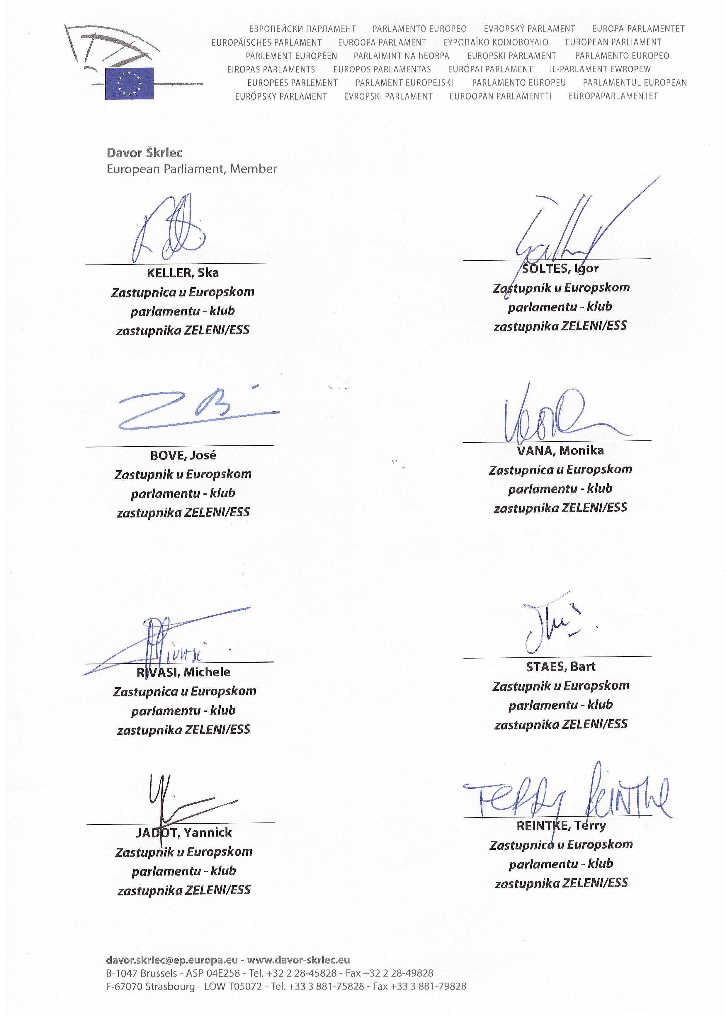 Otvoreno pismo Zelenih zastupnika u Europskom parlamentu Predsjedniku Josipoviću-3