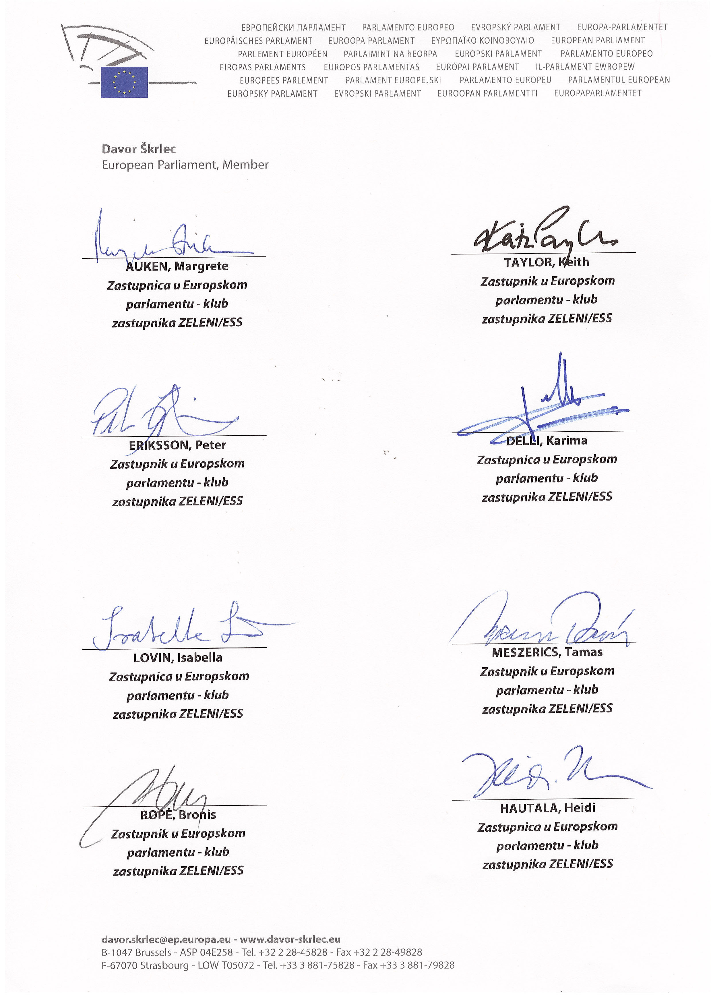 Otvoreno pismo Zelenih zastupnika u Europskom parlamentu Predsjedniku Josipoviću-4