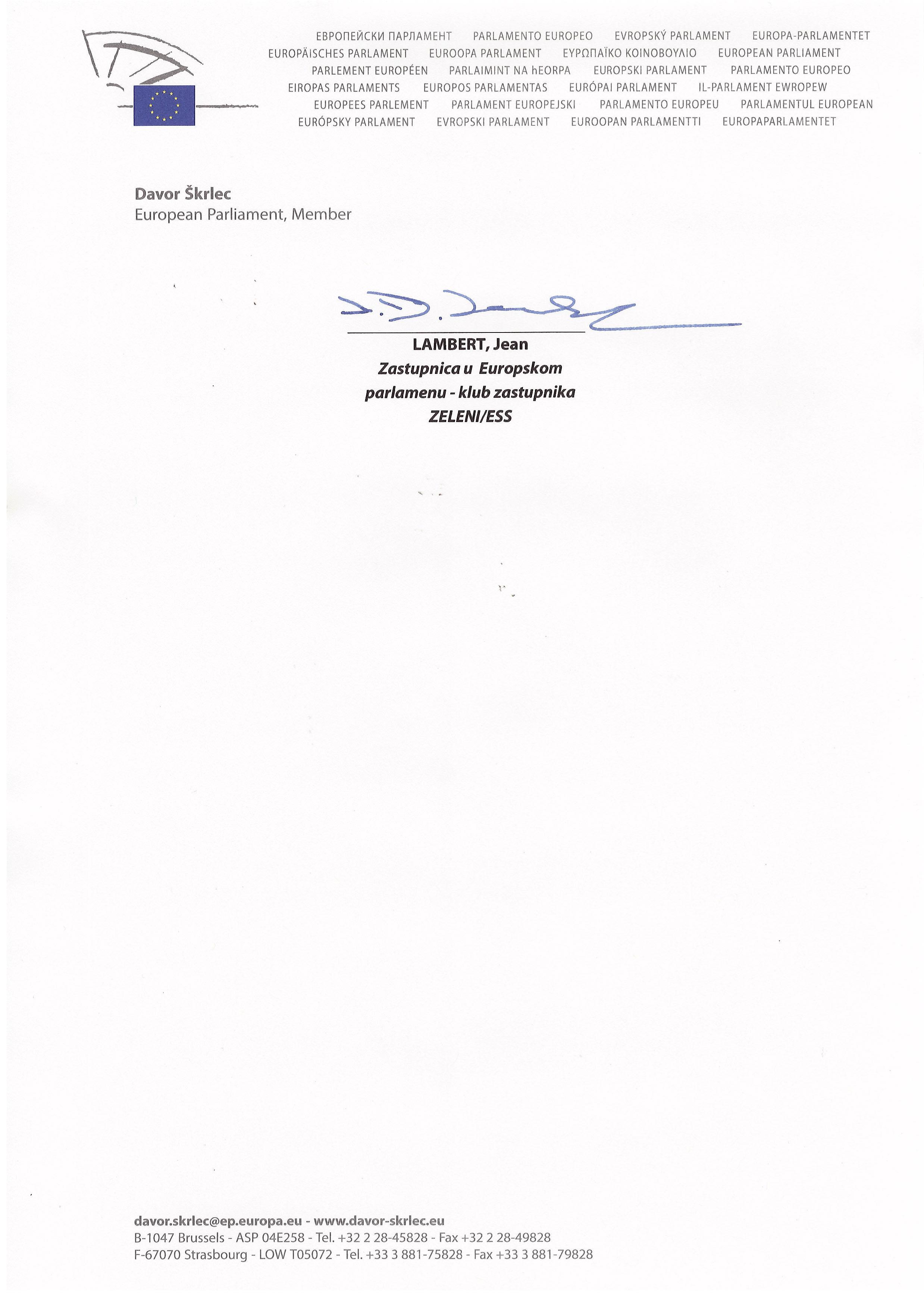 Otvoreno pismo Zelenih zastupnika u Europskom parlamentu Predsjedniku Josipoviću-5