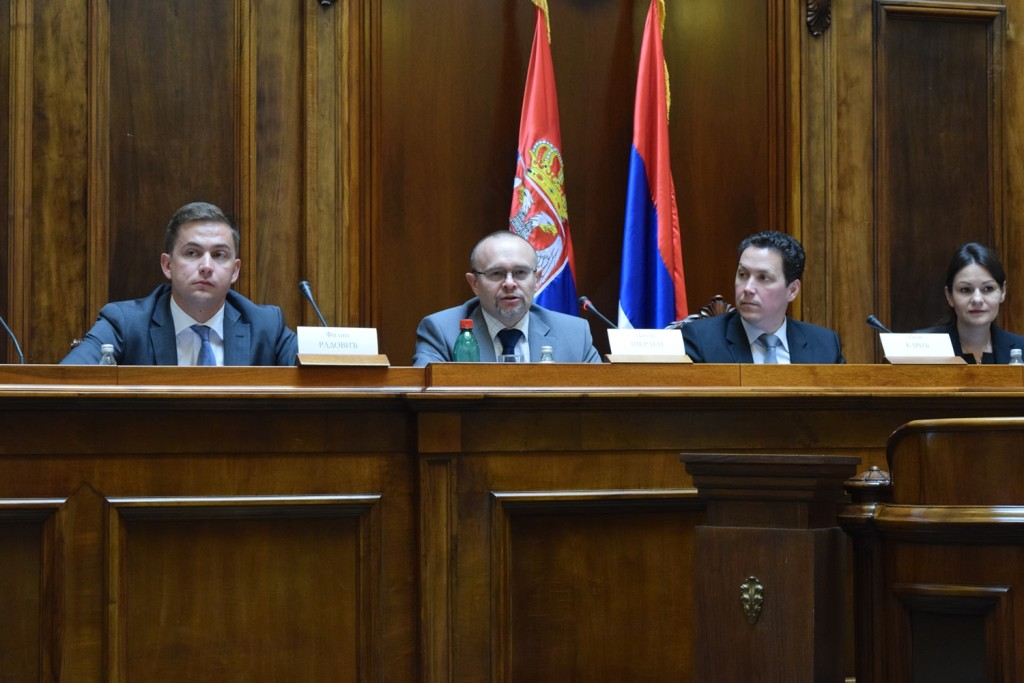 Davor Škrlec u Narodnoj skupštini Republike Srbije