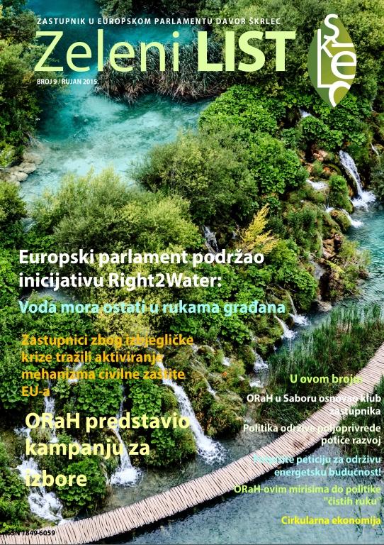 Zeleni list - rujan 2015
