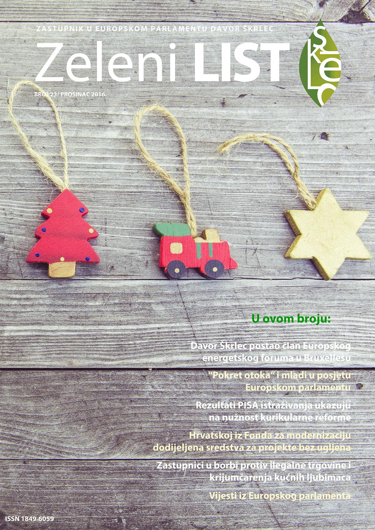 Zeleni list - prosinac 2016