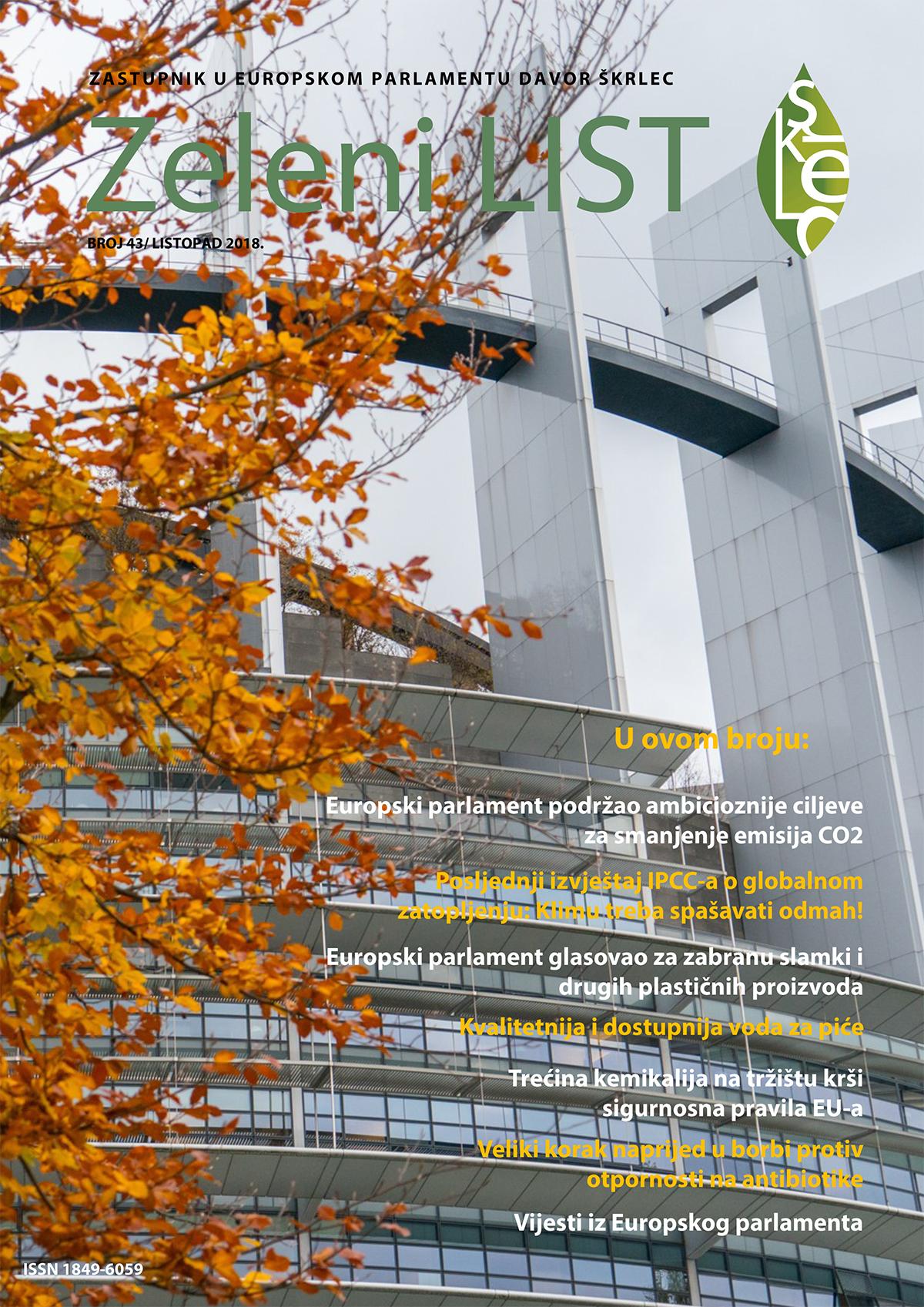 Zeleni list - listopad 2018